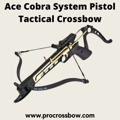 Ace Martial Arts Supply Cobra System Self Cocking Pistol Tactical Crossbow