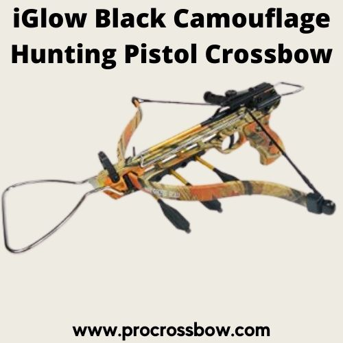 iGlow Black Camouflage Hunting Pistol Crossbow