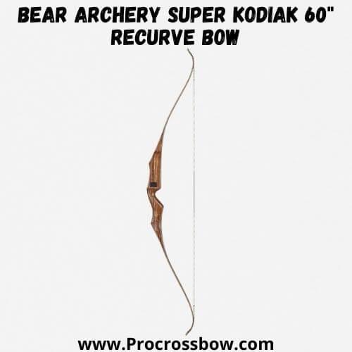 "Bear Archery Super Kodiak 60"" Recurve Bow"